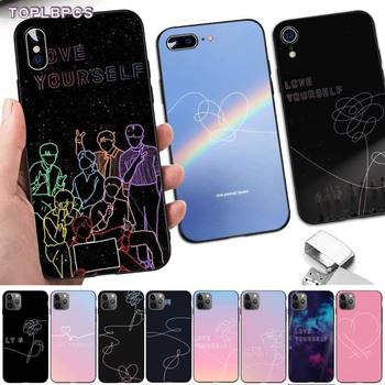 TOPLBPCS Love yourself Flower kpop мягкий чехол для телефона для iPhone 8 7 6 6S Plus X 5 5S SE 2020 XR 11 pro XS MAX image