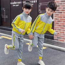 Kids Primary Outdoor Clothing Suit Teen Students Sport set Costumes Girls Boys Autumn School Uniforms Costumes tracksuit outfits(China)