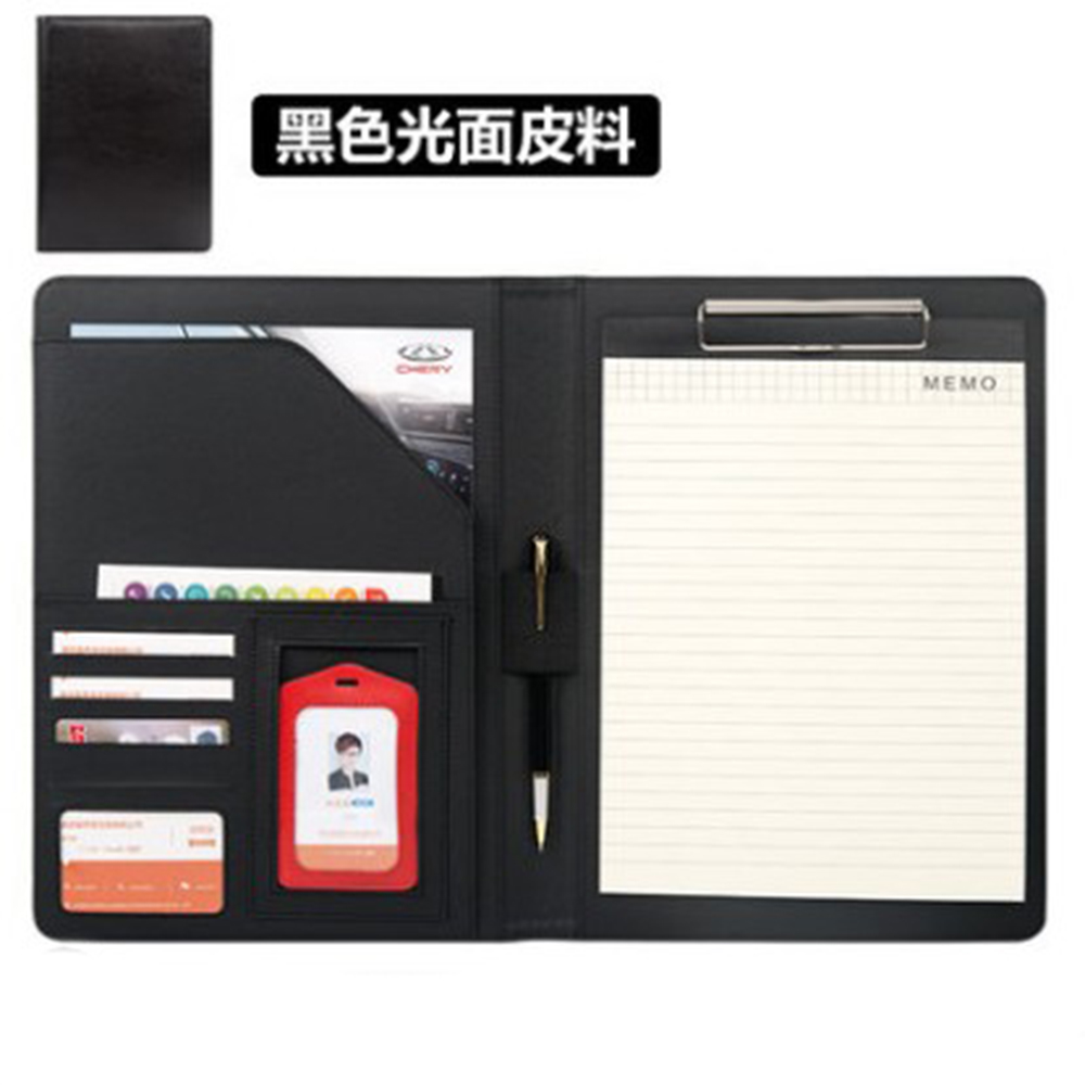New High Quality Leather  Portfolio A4 Documents Folder Cases Manager Bag Business Floder without Calculator