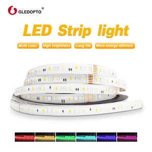 Image 5 - Gledopto RGB+CCT LED strip light rgb ww/cw DC24V 5 meters IP65 waterproof and IP20 not waterproof rgbcct light SMD 5050 SMD 2835