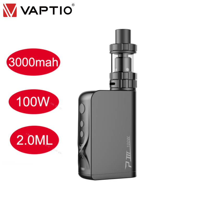 [12.12 Sale]Original Vaptio P3 Gear Kit Electronic Cigarette Vape Kit 100W Built In 3000mAh Battery 2.0ml 510 Thread Vaporizador