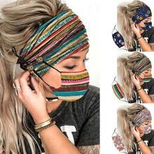 2 pçs macio earmuff com botão para as mulheres nova moda cachecol acessórios para o cabelo 2020 flor impressa ao ar livre casual headwear
