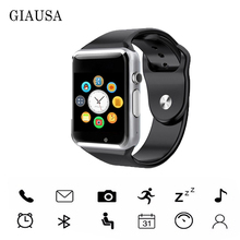 цена на A1 WristWatch Bluetooth Smart Watch Sport Pedometer With SIM Camera Smartwatch  for Android PK iwo 8 DZ09 watch смарт часы детск
