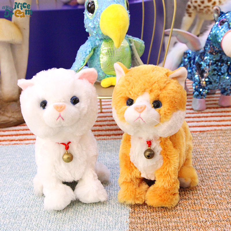 Electric Plush Toys Animal Cat Will Walk Cat Interactive Toy Creative-Customizable
