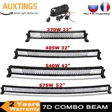 22 32 42 52 Inch 270W 405W 7d Off Road Led Licht Bar Curved LED Treibendes Lichter 4x4 Offroad Lkw SUV ATV Traktor Boot 12v 24v