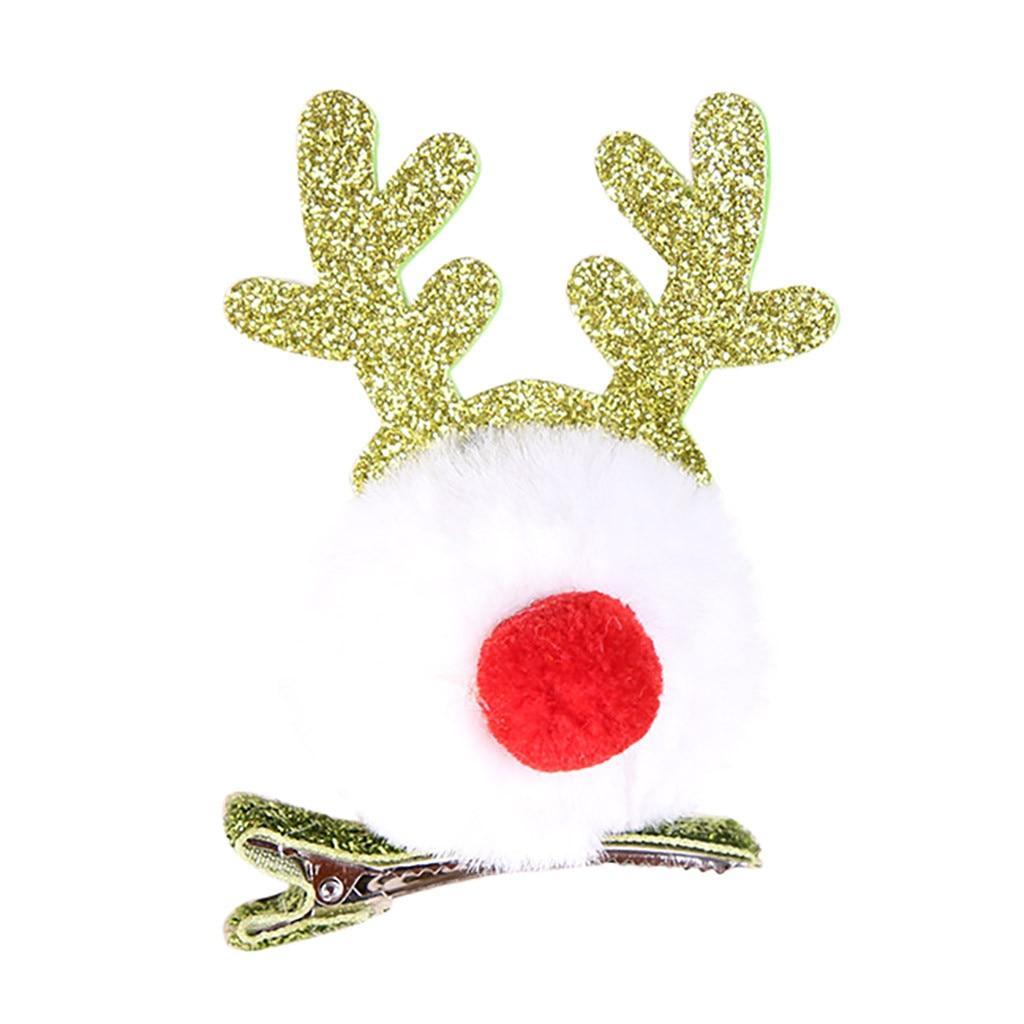 Рождественская заколка для волос с лосем для рождественской вечеринки, заколка для волос с Санта-Клаусом и снеговиком, подарок для взрослых и детей, рождественские украшения, аксессуары для волос#35