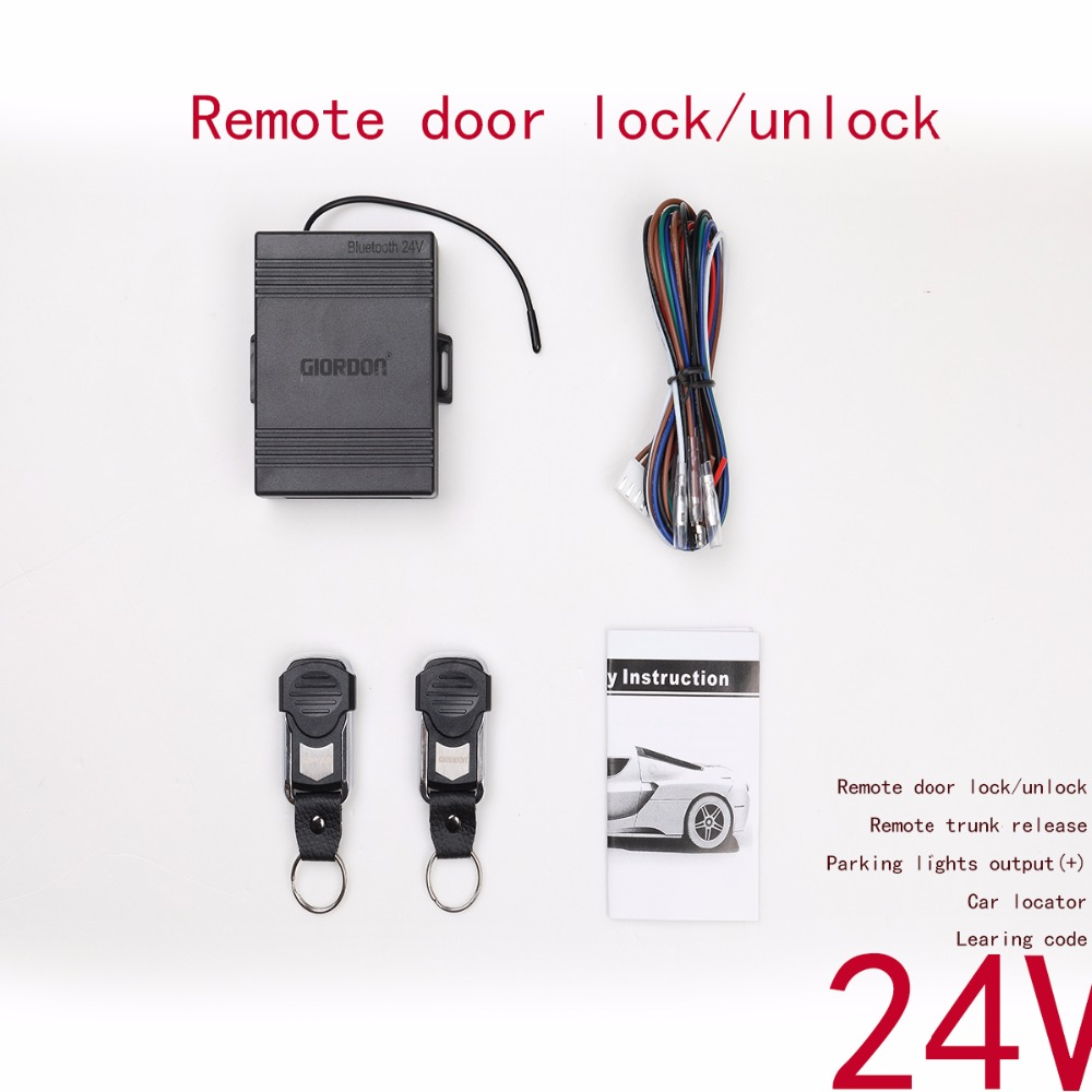 24v For Truck Keyless Entry Central Locking/unlock Android/iso App Remote Control With Car Alarm System Universal Alarma Auto