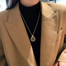 Halskette für Frauen Modische Kristall Stern Geometrische Halskette Einfache Polaris Anhänger Halskette Schmuck Großhandel