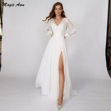 Женское шифоновое свадебное платье magic awn с длинным рукавом