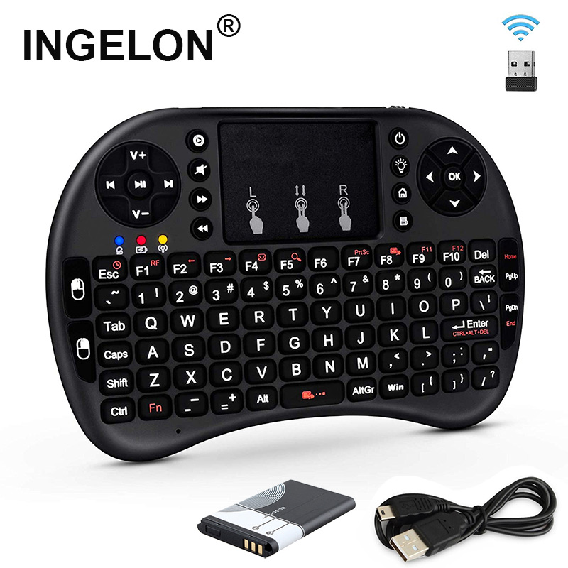 2.4GHz Mini Wireless Keyboard QWERTY Black Portable I8 With BL 5C Battery For Tablets Windows TV Xbox PS3 Raspberry Pi Dropship