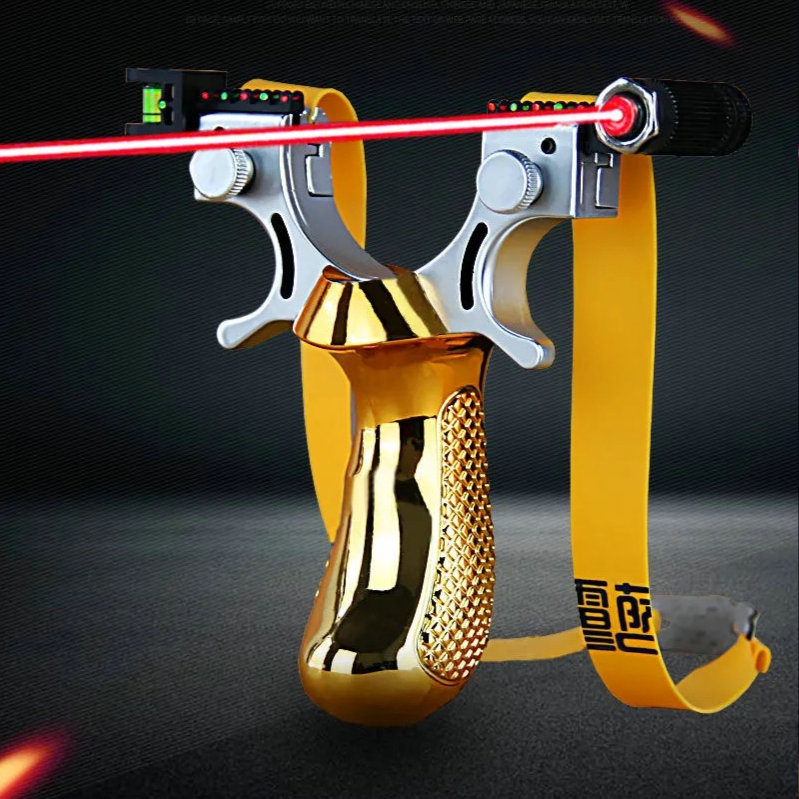 Free shipping new upgrade thick flat rubber band outdoor sports quick press laser infrared hunting launcher new slingshot toy