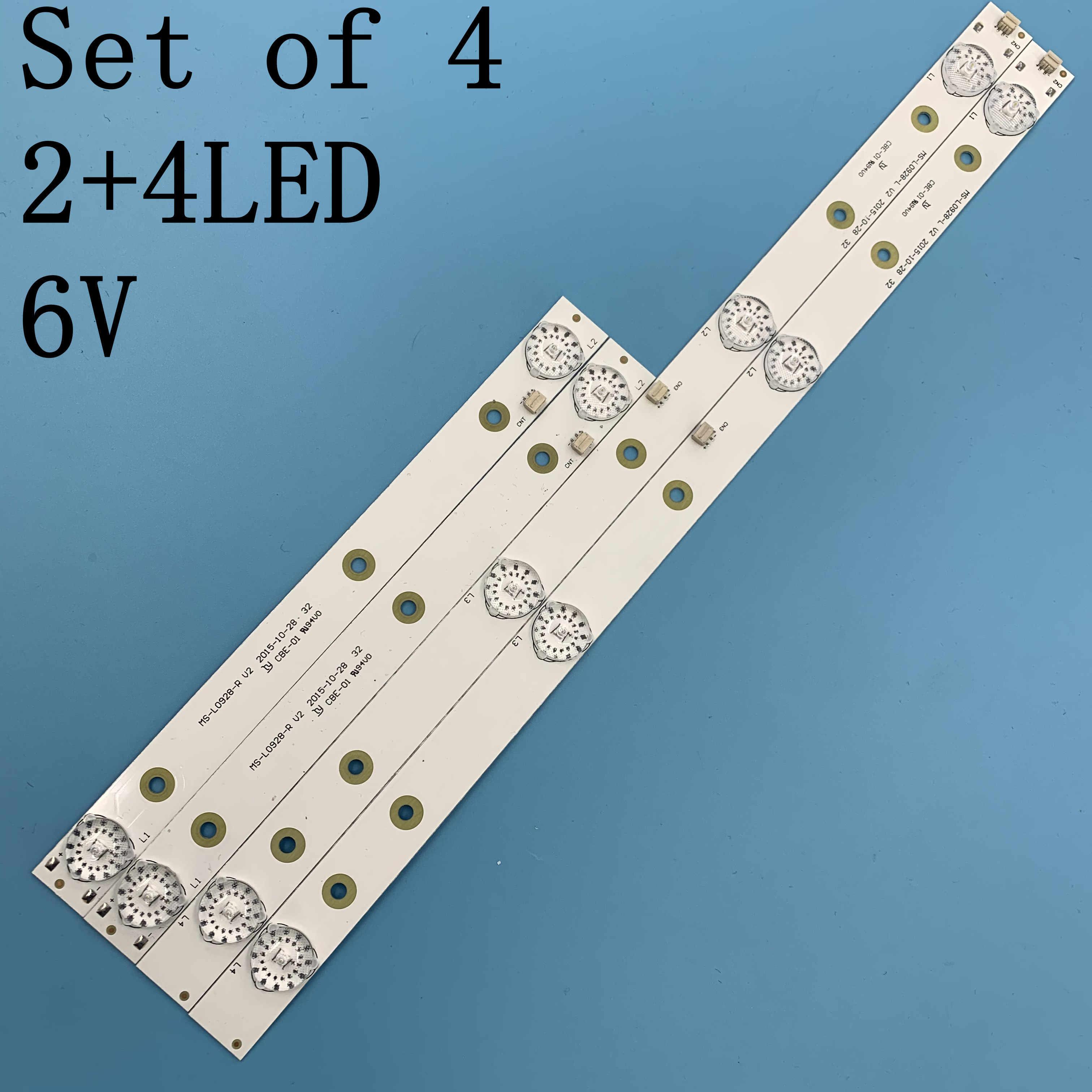 חדש 4 יח'\סט LED תאורה אחורית רצועת עבור akai AKTV3221 32LED38P JS-D-JP3220-041EC E32F2000 D32-0A35 MS-L0928-L R V2 HV320WHB-N80