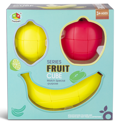 New Original FanXin Fruit Magic Cube Apple Banana Lemon Educational Toys For Children Brain Teaser Brithday Christmas Gift