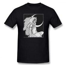 100% cotton Mononoke Drawing print casual mens o-neck t shirts fashion Mens Basic Short Sleeve T-Shirt