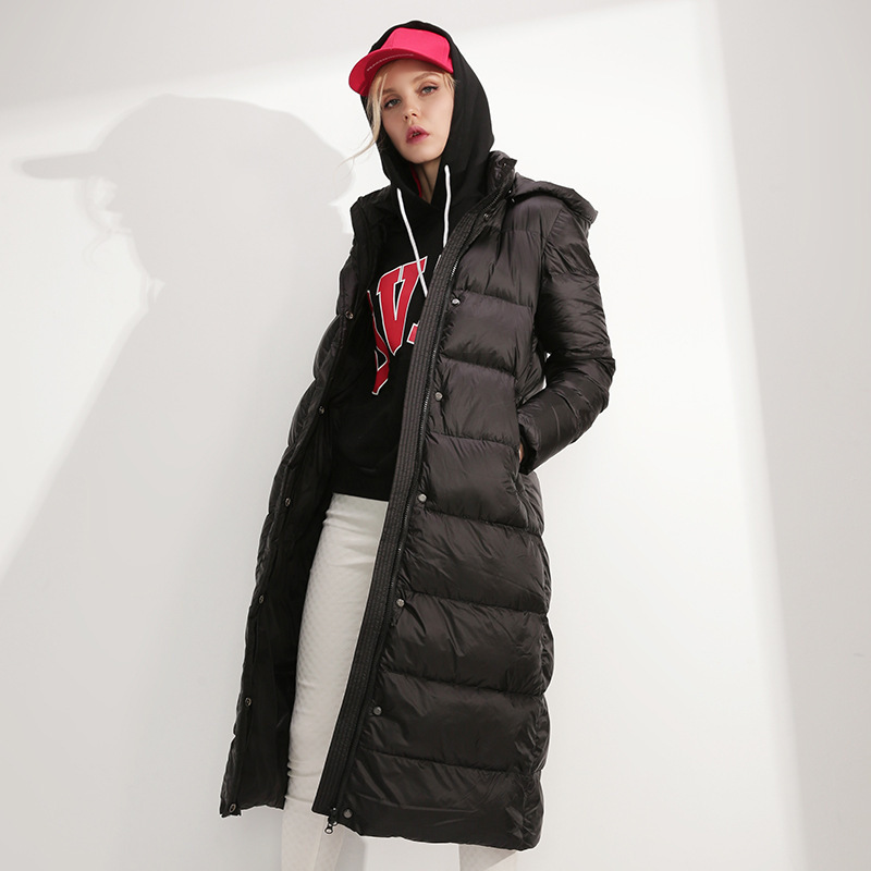 Thick Warm Brand Down Parka Women Duck Down Jacket Female Winter Coat Hooded Woman 2019 Fashion Long Overcoat Hiver 91241