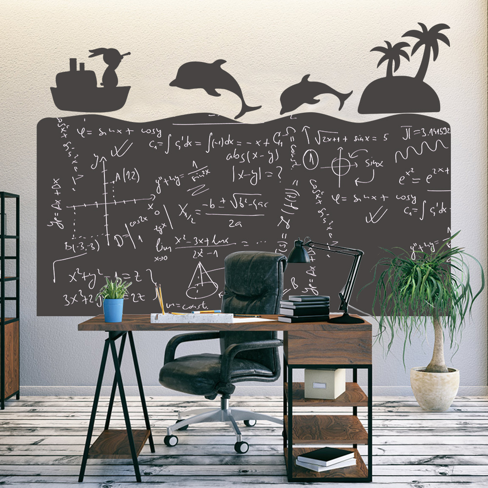 Removable 120x85cm Blackboard Decor Wall Sticker For Kids Learning Writing Graffiti ChalkBoard WallPaper For School Home Office
