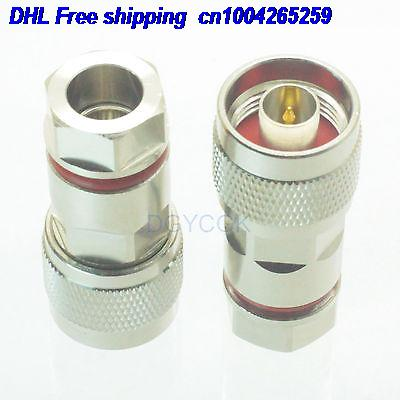 DHL 50pcs N Male Plug Clamp 1/4
