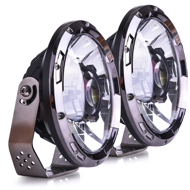 Image 4 - MICTUNING 7 Inch Upgrade LED Driving Headlight with Laser Light Beam 6000K Hyperspot Combo Light for Vehicle Motorcycle Boat RV-in Light Bar/Work Light from Automobiles & Motorcycles