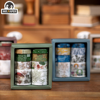 Mr Paper 8 Roll Granny Chic Flashy Botany Scrapbooking Deco Washi Tapes Bullet Journaling DIY Decoration Masking Paper Tapes