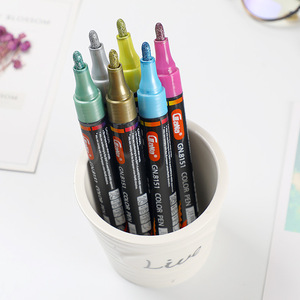 Image 3 - 15 צבעים מתכתי עט קבוע אקריליק סמני צבע עבור לשרבט גבולות דפוסים ומלאכת פרויקטים/מבוסס סמני Waterproof