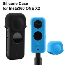 Siliconen Case Voor Insta360 Een X2 Soft Cover Shell Stofdicht Lens Cap Screen Cover Beschermhoes Panoramische Camera Accessoire