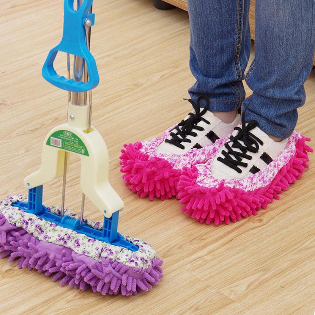 2pcs Floor Mopping Shoe Cover Floor Mopper Slipper Home Floor Cleaner Cleaning Foot Socks