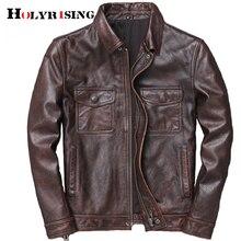 Men Cowhide leather veste cuir homme 2019 mens 100% genuine leather ja