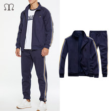 Conjuntos de treino masculino primavera outono com capuz moletom casual conjunto sportsuit jaqueta + calças masculino 2020 marca roupas esportivas