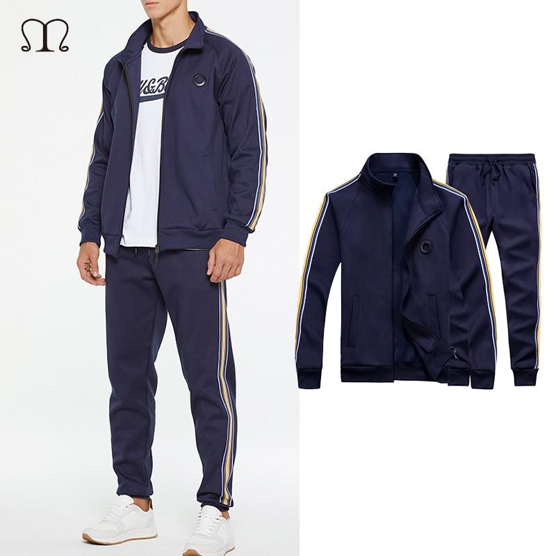 Tracksuit Men Sets Spring Autumn Hooded Sweatshirt Casual Set Men's Sportsuit Jacket+Pants Male 2018 Brand Sportswear Clothing