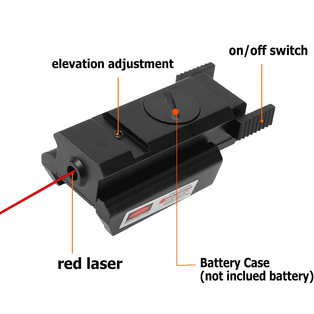 Tactical Red Dot Sight with 20mm Rail Pistol Weaver Airsoft Shockproof Rifle Red Laser Scope Hunting  Handgun Glock Laser-3