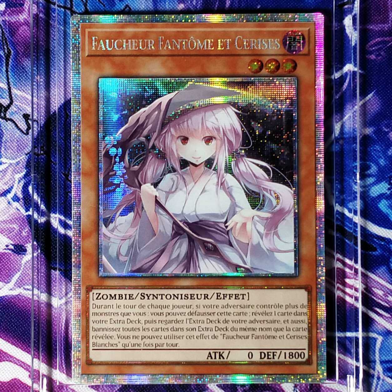 Yu Gi Oh French Ghost Reaper Winter Cherries DIY Colorful Toys Hobbies Hobby Collectibles Game Collection Anime Cards