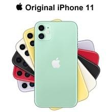 Новинка, Apple iPhone 11, двойная камера 12 МП, A13, чип, 6,1 дюйма, жидкий дисплей retina, IOS, смартфон, LTE, 4G, медленный, Селфи, MI, Wi-Fi, 6