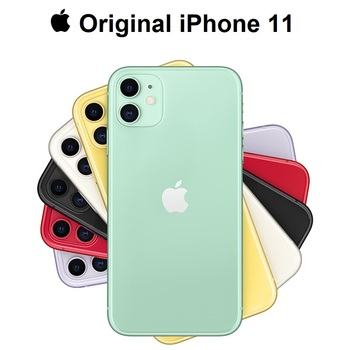 Original New Apple iPhone 11 Dual 12MP Camera A13 Chip 6.1 Liquid Retina Display IOS Smartphone LTE 4G Slow Selfie MI WIFI 6