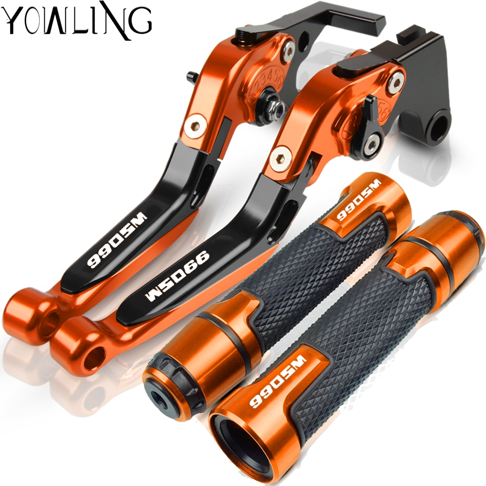 For <font><b>KTM</b></font> <font><b>950</b></font> <font><b>SM</b></font> 950SM 2007 2008 2009 Motorcycle Accessories Adjustable Extendable Brake Clutch Levers Handlebar Hand Grips ends image