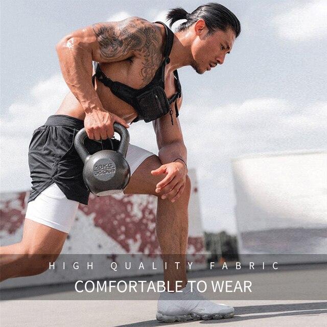 2020 Summer Running Shorts Men 2 in 1 Sports Jogging Fitness Shorts Training Quick Dry Mens Gym Men Shorts Sport gym Short Pants 5