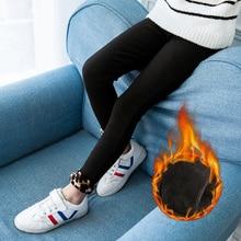 Autumn Winter Girls Pants  print Velvet Thicken Warm Girls Leggings Kids Children Pants Girls Clothing 6 8 10Y For Winter