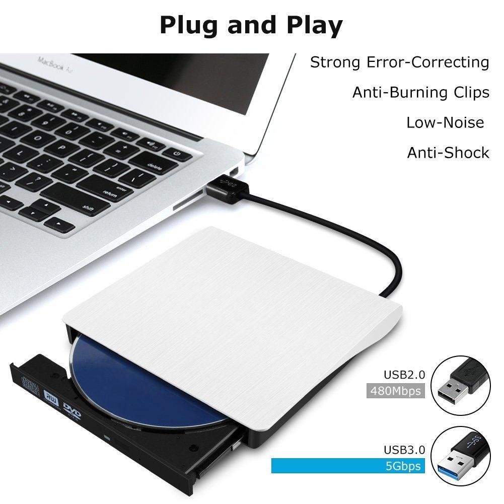 USB 3,0 внешний накопитель DVD-ROM CD-RW DVD-RW горелки Портативный считыватель тонкий для Windows7/8/10