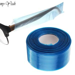 Image 1 - 200pcs/box Disposable Plastic Covers for Glasses Legs Frame Slender Bag Dyeing Coloring Protector Hair Salon DIY Styling Tool