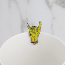 Creative personality gestures alloy brooch enamel pin mini badge bag clothes jewelry gifts to friends FXM