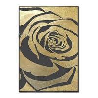 Gloden Rose Artwork Handpainted Oil Painting On Canvas Home Decor Wall Art Canvas Paintings Pop Art Wall Picture For Living Room