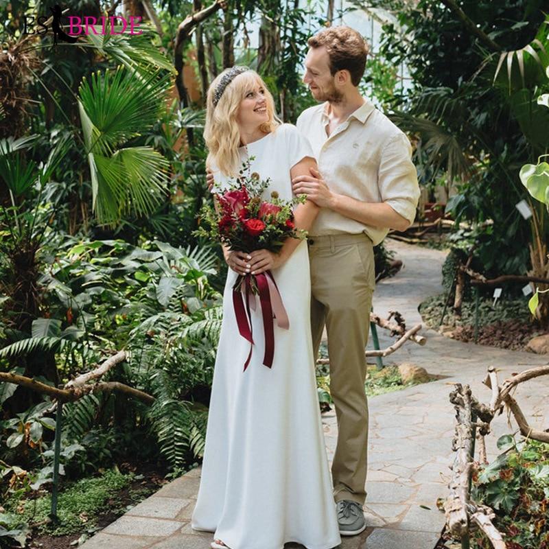 Light Wedding Dress Satin Simple Sen Super Immortal Wedding Beach Dress Evening Dress