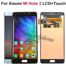 """AMOLED 5.7 """"dla Xiaomi Mi Note2 LCD dla Xiaomi Mi uwaga 2 wydanie specjalne Mi uwaga 2 wyświetlacz LCD ekran dotykowy Digitizer zgromadzenie"""