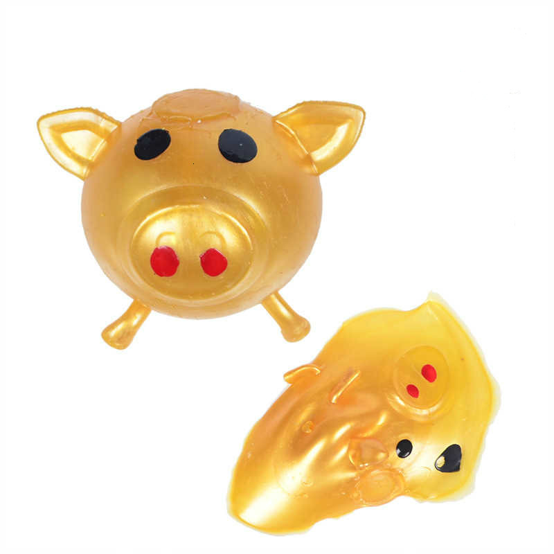 Anti Stress Golden Pig Toys Decompression Splat Ball Vent Toy Venting Ball Sticky Smash Water Ball Gift For Everyon