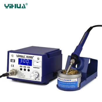 цена на YIHUA 939D+ LCD Soldering Iron Station 75W High Power Imported Heating Soldering Iron 220V 110V Welding Free shipping