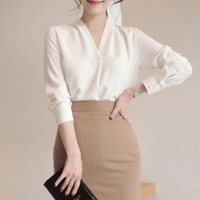 2020 Summer Women Chiffon Blouse New Fashion Female Long Sleeve Casual Soild Thin Shirt V-neck Blouses Pullover Tops 2