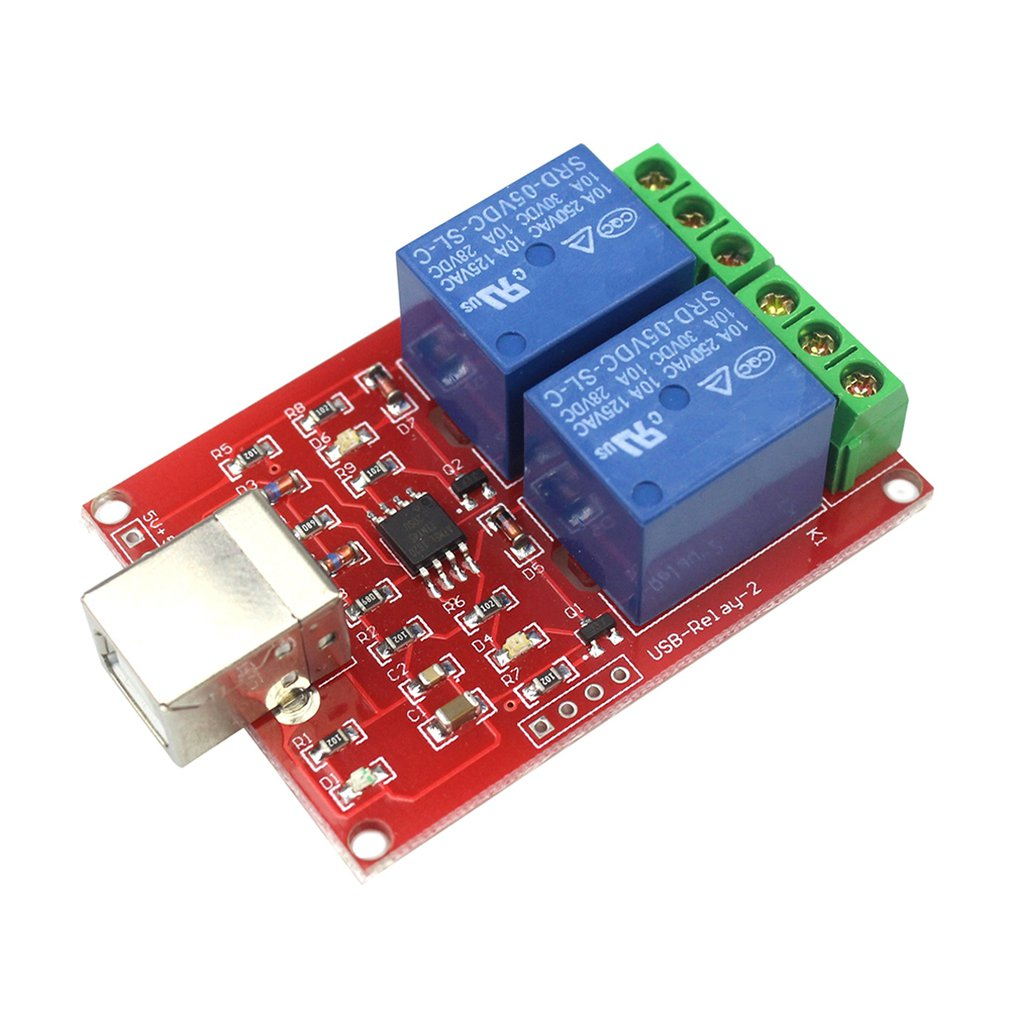 5V Free Drive Usb Control Switch 2 Way Relay Module Computer Control Switch Pc Intelligent Control Switch