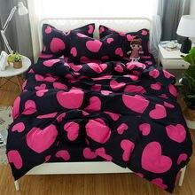 Детский комплект постельного белья с сердечным ритмом мягкий