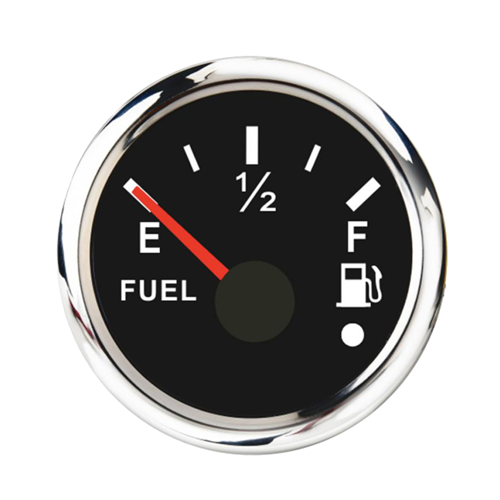 Fuel Level Gauge/ Meter for Boat Car Motorcycle, 0-190ohm, Black
