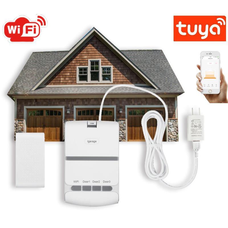 Wifi Smart Garage Door Opener Controller Switch Tuya Remote Control Smart Home Voice Works With Alexa Google Home