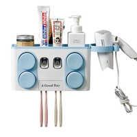 Многофункциональные аксессуары для ванной комнаты Автоматический Диспенсер зубной пасты с присоской настенная подставка для зубных щеток...